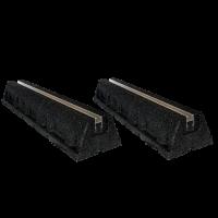 50cm Aufstellblock schwarz